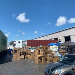 amazon boxes on a landing strip
