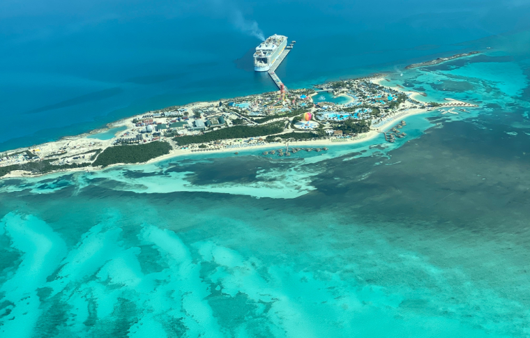 View of Bahamas from above