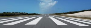 landign strip below the beautiful Bahamas sky
